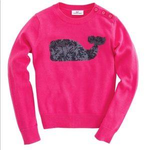 NWOT Vineyard Vines Girls Sequin Sweater Size M